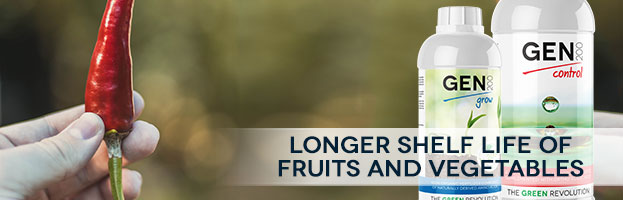 Longer shelf life of fruits and vegetables.
